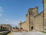 Ramparts of the historic fortified city of Carcassone 05.jpg