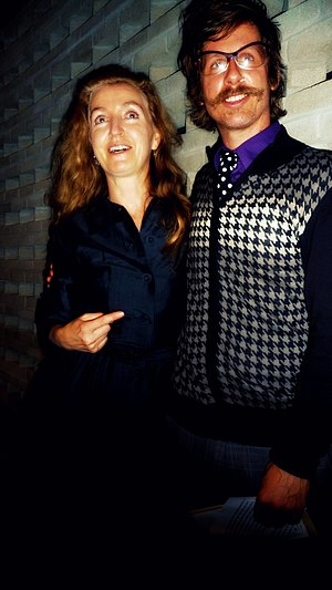 Rebecca Solnit - Rebecca Solnit with cinematographer Christian Bruno in 2010