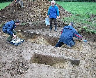 Wickham Market Hoard - Recording ditches at Wickham Market hoard site