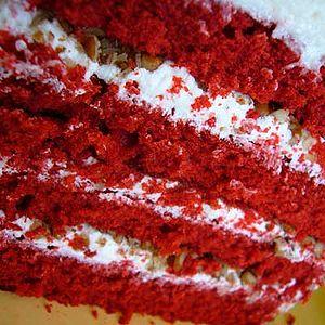Food porn - A close-up of red velvet cake