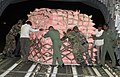 Relief material carried to Nepal being loaded on an Indian Air Force (IAF) aircraft, at Air Force Station Palam, New Delhi following a massive earthquake in Nepal.jpg