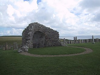 Helga Moddansdóttir - Ruins of the Round Church at the Earl's Bu, Orphir. The Earl's Bu was a great hall, and the location of the death of Harald Haakonsson