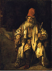 Portrait of a Seated Old Man Wearing a Red Hat