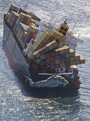 MV Rena - Rena aground