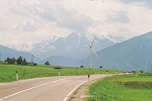 Leitner Group - LeitWind wind turbine on Reschen Pass in Mals, South Tyrol