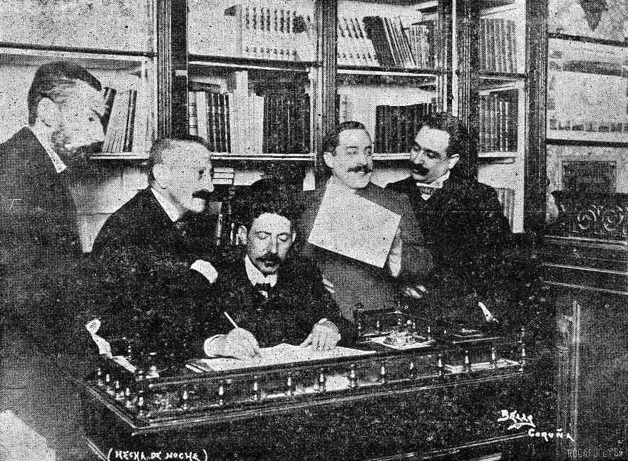 Revista Gallega 521 (11.03.1905) - A redacción da RG. Arquivo RAG