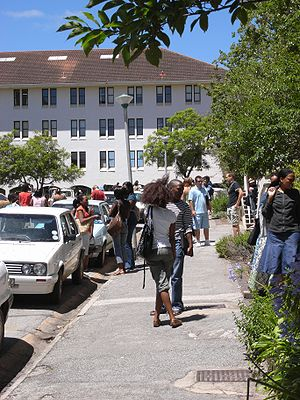 Rhodes University of Grahamstown, students (Ea...
