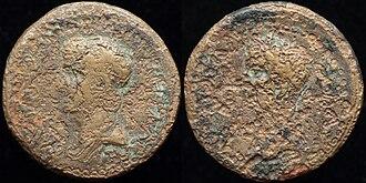 Rhoemetalces III - O: diademed draped bust of Rhoemetalces III