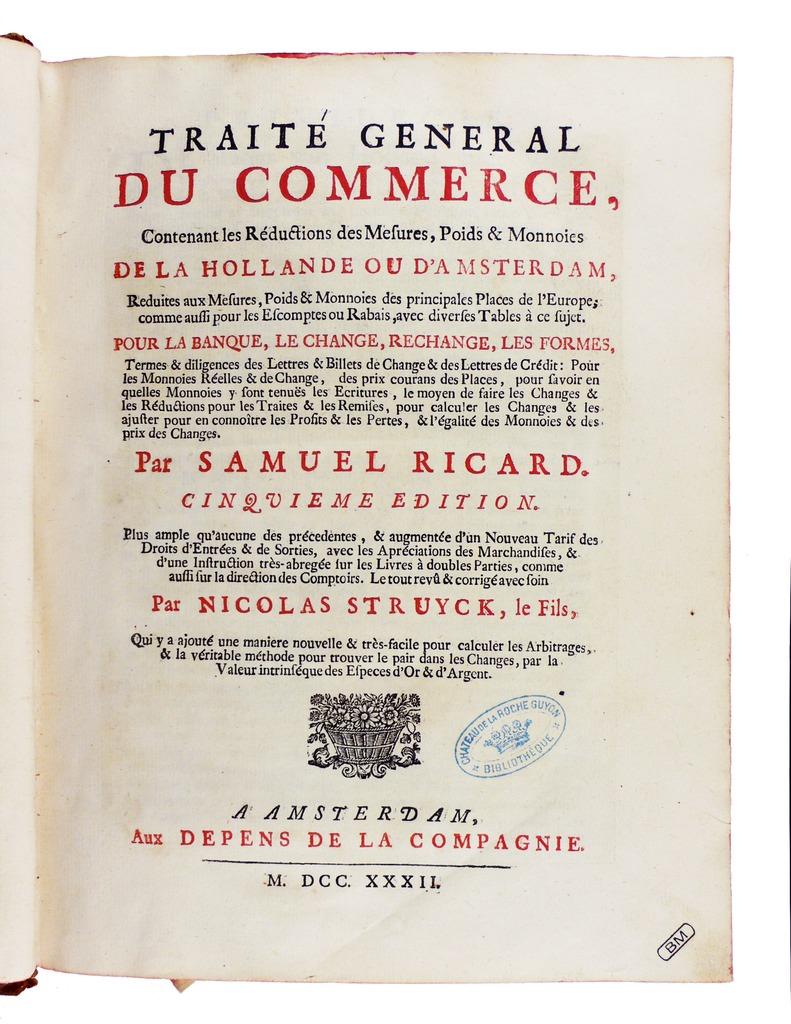 File ricard trait g n ral du commerce 1732 for C du commerce