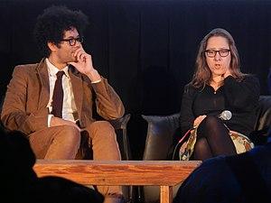 "Maya Forbes - Maya Forbes (right) at ""Cinema Cafe"" at the Sundance Festival, January 17, 2014"
