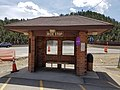 Ride Stop, Bustang, Clear Creek County Transit Bus Stop shelter, Idaho Springs, CO 2020-05-06.jpg