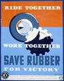 Ride together - work together - save rubber for victory LCCN98517373.tif