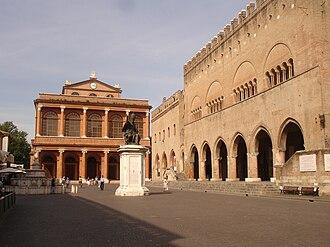 Luigi Poletti (architect) - Image: Rimini piazza cavour