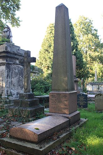 Earl of Camperdown - The grave of Robert Dundas Duncan Haldane (sometimes written Haldane-Duncan), on the north side of the main path, towards the central chapel, Kensal Green Cemetery, London