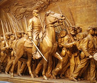 Robert Gould Shaw Memorial - Restored plaster cast at the National Gallery of Art