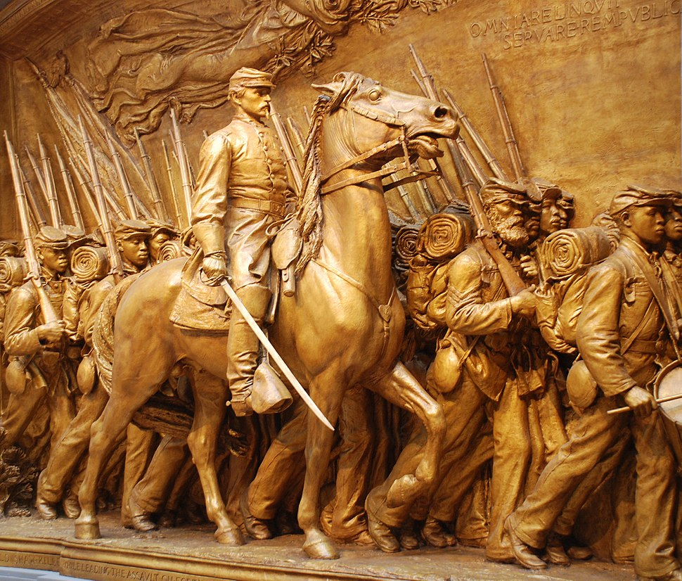 Robert Gould Shaw Memorial - detail