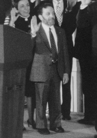 Robert Reich - Reich in the East Room during the 1993 swearing-in ceremony for Clinton's cabinet
