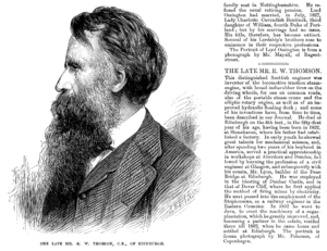 Robert William Thomson - Robert Thomson's obituary in The Illustrated London News of 29 March 1873