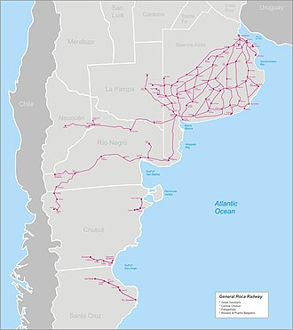 Railway nationalisation in Argentina - Image: Roca railway complete