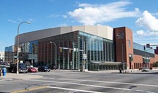 Blue Cross Arena Multi-purpose indoor arena located in Rochester, New York.