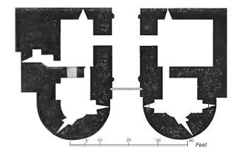 Rockingham Castle - A plan of the gatehouse