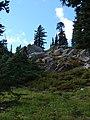 Rocks along ridge of Snag Mountain, just east of Three Lakes. (627783f23b6544c5993c29fb357205cf).JPG