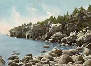 Squirrel Island, Maine - Rocky coast of Squirrel Island in 1906