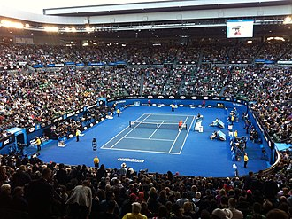 Rod Laver Arena - Interior of arena during the 2015 Australian Open