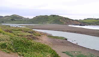 Rodeo Lagoon - Outlet channel of Rodeo Lagoon