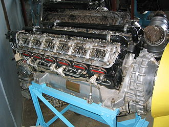 Rolls-Royce Kestrel - RR Kestrel VI with valve gear exposed