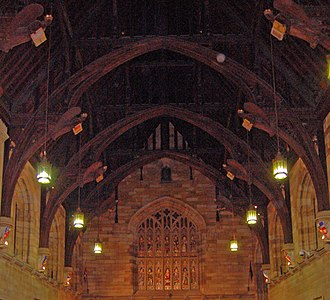 Great Hall of the University of Sydney - The arched roof of the Great Hall.