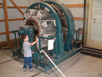 Railway electrification system - Railroad rotary converter at Illinois Railway Museum