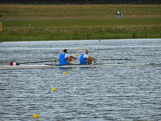 Italy at the 2012 Summer Olympics - Italy during the final of the men's coxless pair.