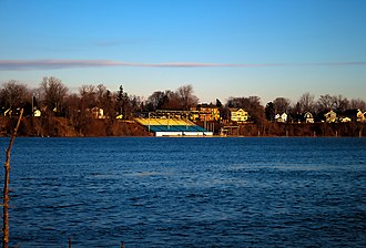 Royal Canadian Henley Rowing Course - The grandstand of the rowing course.