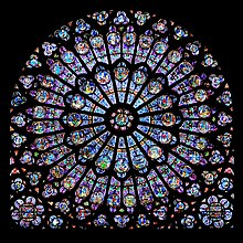 Symbolism- the north rose of Notre Dame, Paris