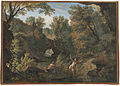 Rugged river landscape with a nymph surprised by a satyr by Isaac de Moucheron.jpg