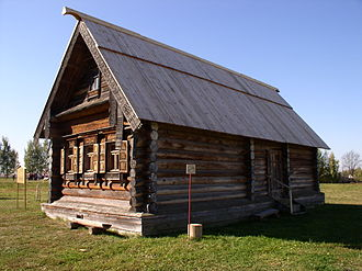 Izba - An izba at the Museum of Wooden Architecture and Peasant Life in Suzdal, Russia