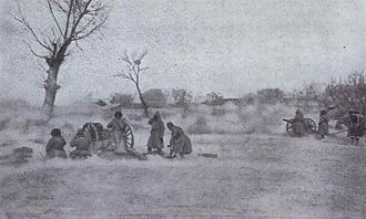 Battle of Mukden - Russian field gun firing during the battle of Mukden