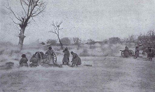 Russian Field Gun during the Battle of Mukden