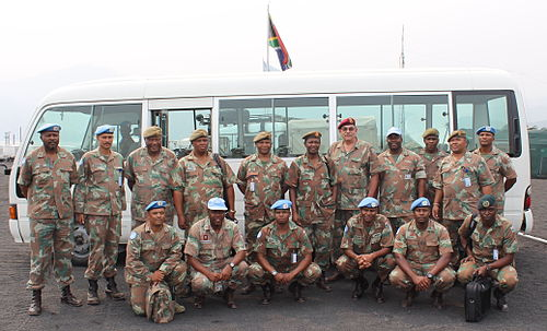 SANDF VIP Visit FIB DRC 2014