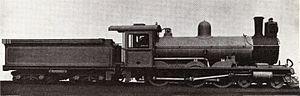 South African Class 6E 4-6-0 - Image: SAR Class 6E (4 6 0) ex OVGS CSAR 6L 3