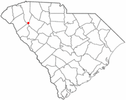 Location of Princeton, South Carolina