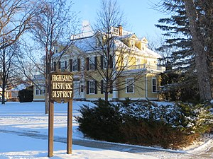 National Register of Historic Places listings in Brown County, South Dakota - Image: SD Aberdeen Highlands HD sign