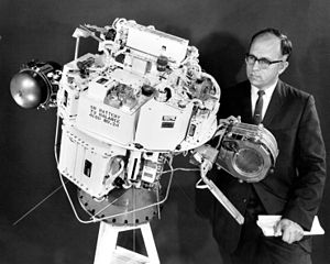 SERT-1: first ion engine NASA spacecraft; launched on July 20, 1964. SERT-1 spacecraft.jpg