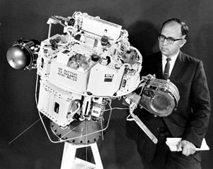 SERT-1's Program Manager, Raymond J. Rulis examining the spacecraft, NASA photoSource: Wikipedia 301px-SERT-1_spacecraft.jpg