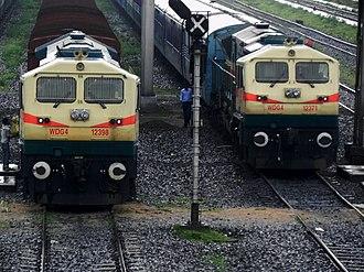 EMD GT46MAC - Siliguri (SGUJ) based WDG 4 locos