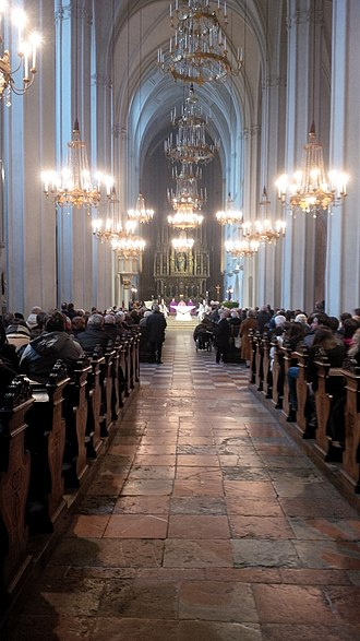 Augustinian Church, Vienna - Solemn High Mass being celebrated in the church
