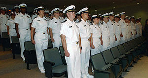 Naval Station Newport - Graduation of the June 23rd 2005 class of the U.S. Navy STA-21 Commissioning Program which was held at NAVSTA Newport.