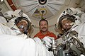 STS-125 Crew Members Pose for a Photo Prior to EVA5 (28162760931).jpg