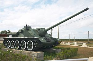 SU-100 self-propelled artillery in Museo Giron.jpg